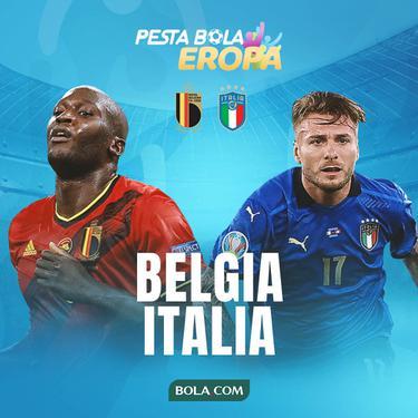 Piala Eropa - Euro 2020 Belgia Vs Italia - Romelu Lukaku Vs Ciro Immobile