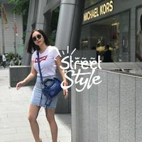 Street style Aura Kasih. (Instagram/aurakasih)