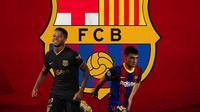 Barcelona - Ansu Fati dan Pedri (Bola.com/Adreanus Titus)