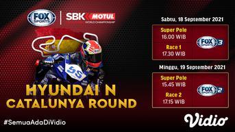 Jadwal dan Live Streaming WSBK Superbike 2021 Catalunya di Vidio Pekan Ini