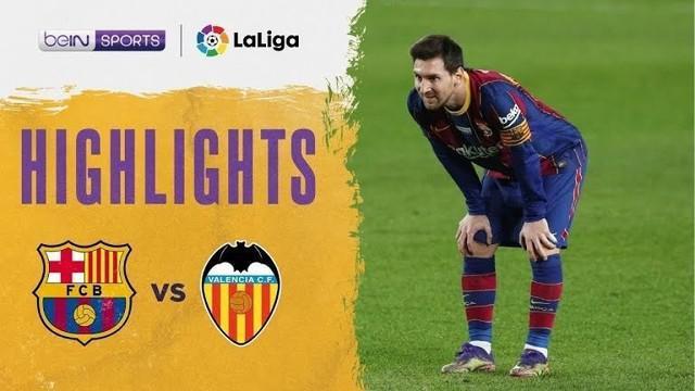 Berita video gol-gol yang tercipta dalam laga pekan ke-14 Liga Spanyol 2020/2021 antara Barcelona melawan Valencia yang berakhir dengan skor 2-2, Sabtu (19/12/2020) malam hari WIB.