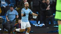 2. Sergio Aguero (Man City) - 20 gol dan 8 assist (AFP/Oli Scarff)
