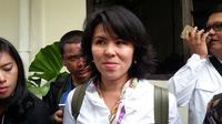 Fifi Lety Indra, Adik kandung Gubernur nonaktif Basuki Tjahaja Purnama atau Ahok, di PN Jakarta Utara, Selasa (13/12/2016). (Delvira Chaerani Hutabarat/Liputan6.com)