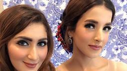 Tania Nadira dan Tasya Farasya sama-sama memilki darah timur tengah. Kecantikan keduanya nampak begitu khas memesona. Baik Tania dan Tasya keduanya kerap tampil dengan riasan bold yang menawan (Liputan6.com/IG/@tanianadiraa)