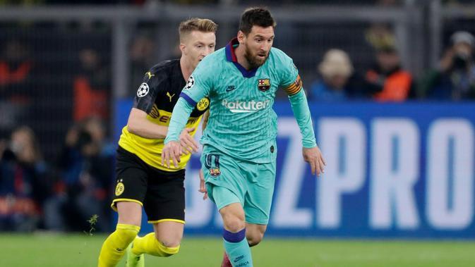 Lionel Messi kembali bermain membela Barcelona. (dok. UEFA)