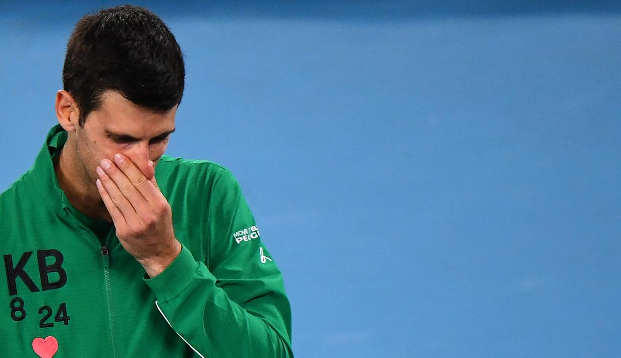 Foto Tangis Novak Djokovic Mengenang Kobe Bryant Ragam Bola Com