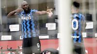 Jika duet striker paling berbahaya ini terus konsisten hingga ujung kompetisi bukan tak mungkin Inter Milan akan meraih Scudetto musim ini. (AP Photo/Antonio Calanni)