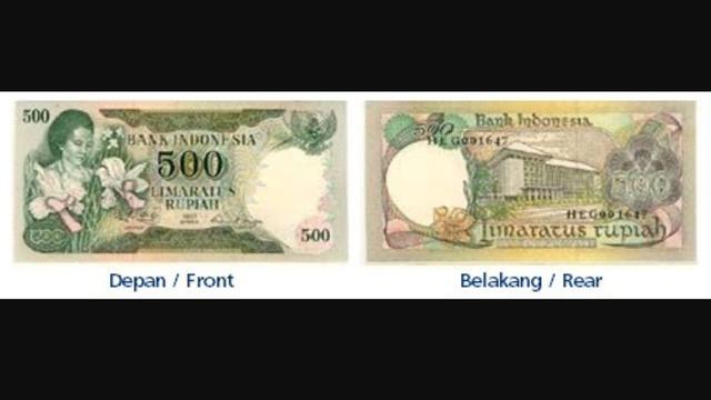 5. Rp 500/Tahun Emisi 1977 (bergambar Rachmi Rahim/istri Bung Hatta). (Foto: BI)