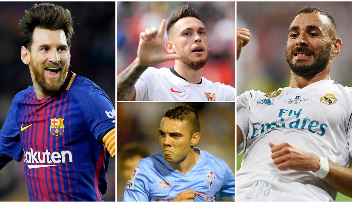 Berikut ini daftar top scorer sementara La Liga Spanyol Musim 2019/2020. Lionel Messi masih di posisi puncak dengan koleksi 22 gol sementara striker Real Madrid, Karim Benzema, membayangi di urutan kedua dengan 19 gol.