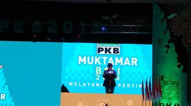 Ketua Umum PKB Muhaimin Iskandar dalam Muktamar di Bali, Selasa (20/8/2019).