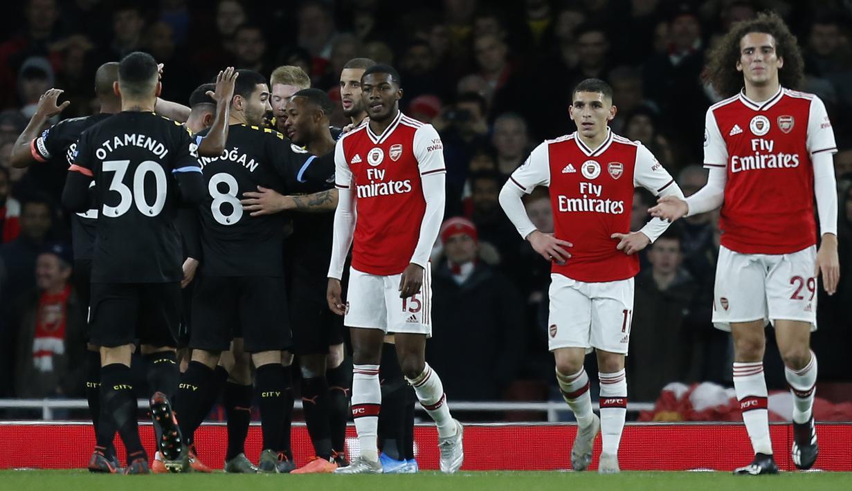 FOTO Hajar Arsenal Manchester City Pesta Gol Di Stadion