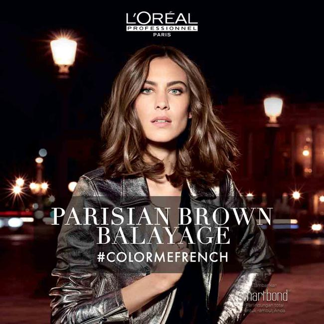 Parisian Brown Balayage./Copyright L'Oreal