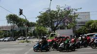 Kamera CCTV yang dipasang di sejumlah persimpangan jalan di Surabaya, Jawa Timur. (Foto: Liputan6.com/Dian Kurniawan)