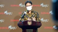 Menteri Kesehatan RI Budi Gunadi Sadikin memberi keterangan pers Indonesia sejuta kasus COVID-19 usai menghadiri rapat yang dipimpin Presiden Joko Widodo (Jokowi) pada Selasa, 26 Januari 2021 di Kantor Presiden, Jakarta. (Biro Pers Sekretariat Presiden)