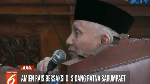 Usai bersaksi, Amien meminta semua pihak termasuk Majelis Hakim untuk melihat masa lalu Ratna sebagai seorang aktivis.