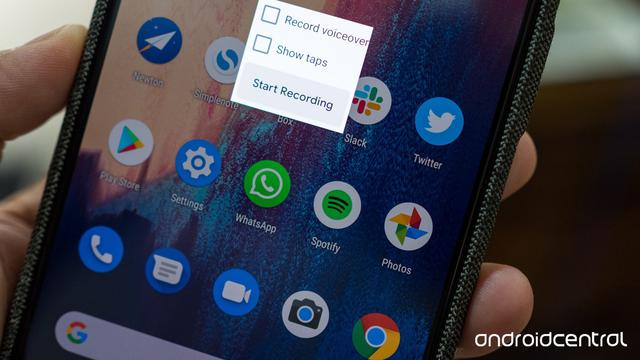 Fitur Rekam Built-In-Screen Android Q. Sumber: Android Central