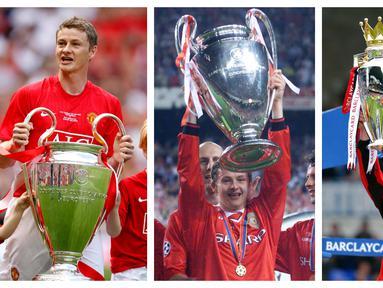 Norwegia sangat berhubungan erat dengan Manchester United. Saat ini, sang manajer Ole Gunnar Solskjaer yang juga mantan pemain mereka pun berasal dari Norwegia dan menjadi kartu truff saat meraih treble winner tahun 1999. Siapa saja pemain asal Norwegia lainnya? (Kolase Foto AFP)