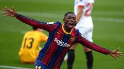 Ousmane Dembele. Striker berusia 24 tahun ini memasuki musim kelimanya bersama Barcelona musim ini dan sama sekali belum dimainkan musim ini. Akibat sering dilanda cedera, secara keseluruhan ia baru bermain dalam 118 laga di semua ajang dengan mencetak 30 gol dan 21 assist. (AFP/Cristina Quicler)