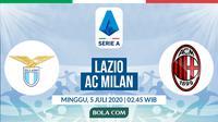 Serie A: Lazio vs AC Milan. (Bola.com/Dody Iryawan)