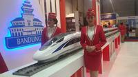 Stan PT Kereta Cepat Indonesia China (KCIC) dalam 12 th Indonesia Investment Week 2016. (Foto: Achmad Dwi/Liputan6.com)