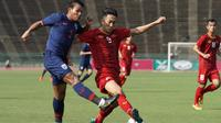 Duel Timnas Vietnam U-22 vs Timnas Thailand U-22 di Piala AFF U-22 2019 di Olympic Stadium, Kamis (21/2/2019). (Bola.com/Dok. VFF)