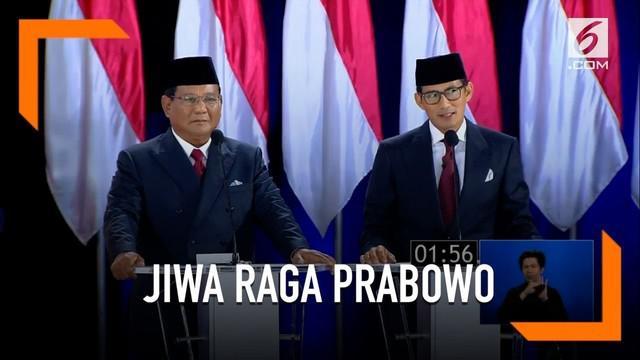 Tak hanya harta, Prabowo sebut dirinya akan mengorbankan jiwa dan raga untuk Indonesia.