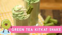 Anda dapat mewujudkan sendiri di rumah, minuman segar green tea kitKat shake yang biasanya Anda jumpai di restoran dengan resep berikut ini.