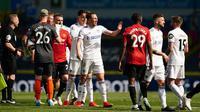 Sampai peluit terakhir dibunyikan baik Manchester United dan juga Leeds United tak ada gol yang tercipta bagi kedua tim. (Foto: AFP/Pool/Jon Super)