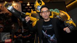 Aktor dan presenter Ben Kasyafani saat ditemui di UOB Plaza, Jakarta, Kamis (2/7/2015). Ben didapuk menjadi pengisi suara dalam film 'Transformer: Age of Extinction' sebagai Shane Dyson. (Liputan6.com/Faisal R Syam)