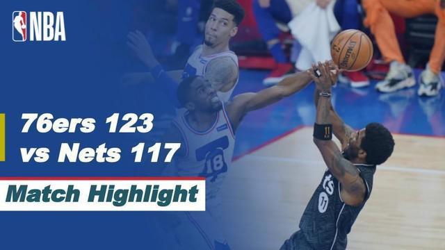 Berita video highlights NBA, pertandingan Philadelphia 76ers melawan Brooklyn Nets, Kamis (15/4/2021).