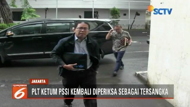 Djoko Driyono kembali diperikasa Satgas Antimafia selama 13 jam terkait perusakan barang bukti.