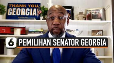Negara bagian Georgia di Amerika Serikat mengukir sejarah baru dengan terpilihnya Raphael Warnock sebagai senator kulit hitam pertama. Perolehan ini membuat Partai Demokrat selangkah lebih dekat untuk menguasai kongres.