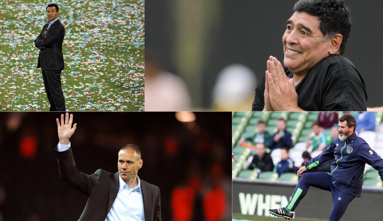 Inilah lima pemain top dunia yang kurang beruntung atau gagal saat menjadi pelatih. (Photo/AFP/)