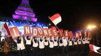 Banyuwangi menggelar acara malam resepsi Kemerdekaan RI ke-74 di Gesibu Blambangan.