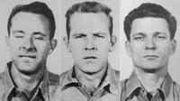 (Dari kiri ke kanan) Clarence Anglin, John Anglin, dan Frank Lee Morris (Wikimedia Commons)