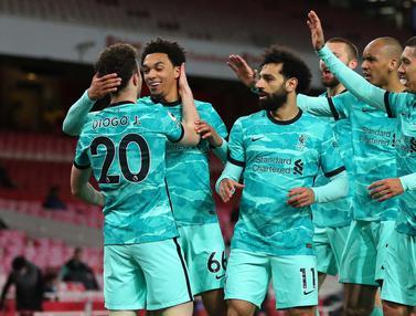 FOTO: Diogo Jota Cetak Dua Gol, Liverpool Bantai Arsenal 3-0