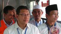 Menag Lukman Hakim Saifuddin dan sejumlah pejabat Kemenag. (Antara Foto/Unggul Tri Ratomo)