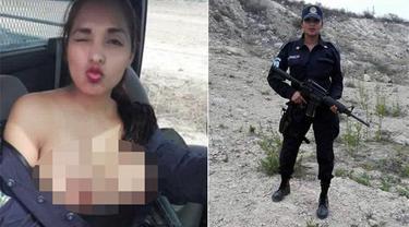 Polisi Wanita Ini Selfie Telanjang Dada saat Menyelidiki Kasus