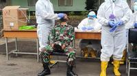 Suasana uji klinis di Secapa AD. (dok Dinas Penerangan TNI AD)