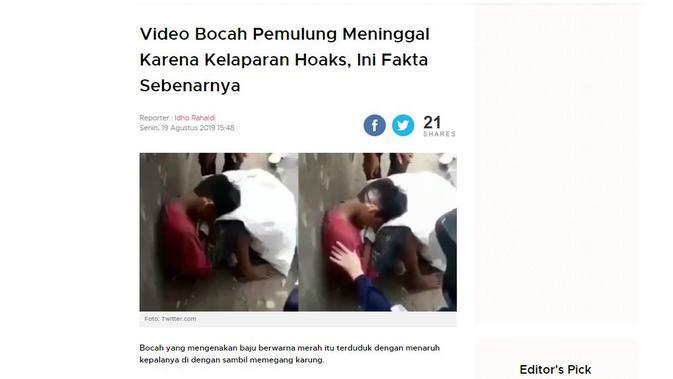 [Cek Fakta] Viral Video Bocah Meninggal Dunia Karena Kelaparan