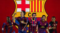 Barcelona - Yaya Toure, Zlatan Ibrahimovic, Cesc Fabregas, Alexis Sanchez, Thiago (Bola.com/Adreanus Titus)