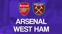 Premier League - Arsenal Vs West Ham United (Bola.com/Adreanus Titus)