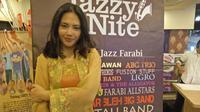 Diah Ayu Lestari usai manggung di Blok M Plaza, Jakarta, Jumat (9/9/2016)