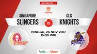 Jadwal ABL, Singapore Slingers Vs CLS Kights. (Bola.com/Dody Iryawan)