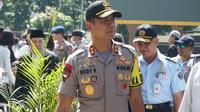 Kapolda Jabar, Inspektur Jenderal Rudy Sufahriadi mengimbau warga agar tidak datang ke MK untuk mengawal persidangan Perselisihan Hasil Pemilihan Umum (PHPU). (Liputan6.com/Huyogo Simbolon)