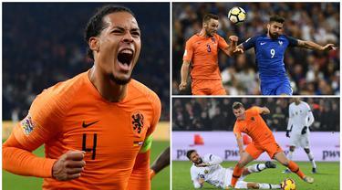 Dahulu Belanda dikenal sering melahirkan striker tangguh karena ditunjang taktik total football, skuat tim Oranje kini malah memiliki banyak bek tengah berbakat. Berikut ini tujuh bek tengan kelas dunia yang berasal dari Belanda. (Kolase Foto dari AFP)