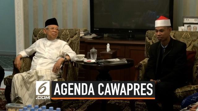 Ma'ruf Amin menemui pemenang lomba MTQ Internasional Syamsuri Firdaus di Jakarta. Pertemuan Ma'ruf dan Syamsuri dilakukan berbarengan dengan awal sidang sengketa Pemilu di MK.