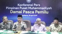 Konferensi PP Muhammadiyah soal Pemilu (Liputan6.com / Switzy Sabandar)