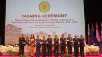 Menteri Pertanian (Mentan) Amran Sulaiman bersama delegasi Republik Indonesia menghadiri pertemuan ke-41 Menteri Pertanian dan Kehutanan se ASEAN (ASEAN Minister of Agriculture and Forestry/AMAF).