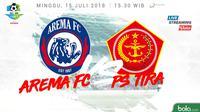 Liga 1 2018 Arema FC Vs PS Tira (Bola.com/Adreanus Titus)